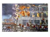 The Life of a Fireman III Poster by  Currier & Ives