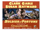 Soldier of Fortune, Clark Gable, Susan Hayward, Michael Rennie, Gene Barry, 1955 Poster