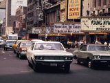 1970s America, 42nd Street Between 7th and 8th Avenues. Manhattan, New York City, 1972 Posters