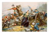 The Battle of Monmouth, Mary Ludwig Hays Loading a Cannon, June 28, 1778 Prints