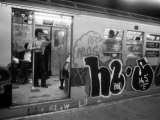 1970s America, Graffiti on a Subway Car on the Lexington Avenue Line. New York City, New York, 1972 Photo