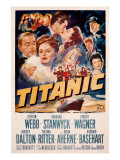 Titanic, Clifton Webb, Barbara Stanwyck, Robert Wagner, Audrey Dalton, Richard Basehart, 1953 Photo