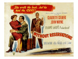 Without Reservations, Claudette Colbert, John Wayne, Don Defore, 1946 Posters