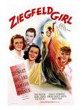 Ziegfeld Girl, Judy Garland, James Stewart, Hedy Lamarr, Lana Turner, 1941 Print