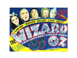 Wizard of Oz, Judy Garland, Frank Morgan, Ray Bolger, Bert Lahr, Jack Haley, 1939 Plakát