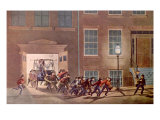 The Life of a Fireman I Prints by  Currier & Ives