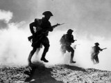 World War II, British Troops Advancing During the Battle of El Alamein, 1942 Photo