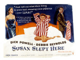 Susan Slept Here, Anne Francis, Debbie Reynolds, Dick Powell, 1954 Photo