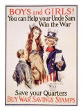 World War I American War Savings Stamps Poster, 1918 Posters by James Montgomery Flagg