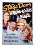 Stage Door, Adolphe Menjou, Ginger Rogers, Katharine Hepburn, 1937 Posters