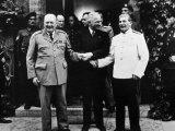 The Potsdam Conference, Winston Churchill, Harry S. Truman and Joseph Stalin, 1945 Photo