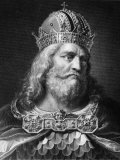 Charlemagne, King of the Franks 768-814, Holy Roman Emperor 800-814, Late 700s Foto