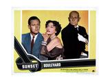 Sunset Boulevard, William Holden, Gloria Swanson, Erich Von Stroheim, 1950 Photo