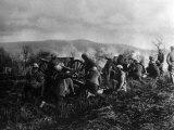 World War I, American 351st Field Artillery, 92nd Division, Firing in Maneuvers at Maidieres Photo