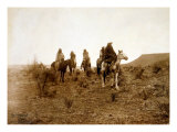 Apaches. Desert Rovers- Five Apache on Horseback in Desert, 1903 Photo by Edward S. Curtis