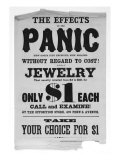 Panic of 1873. Bill Advertising Jewelry Sale During the Bank Panic of 1873. Washington DC 1873 Prints