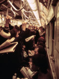 1970s America, Passengers on a Subway Car, New York City, New York, 1972 Posters