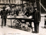 Little Italy - Street Vendor with Wares Displayed on a Handcart During a Festival, New York, 1908 Prints