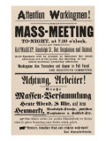 Haymarket Riot, Flyer Calling for a Protest Against the Chicago Police, May 4, 1886 Photo
