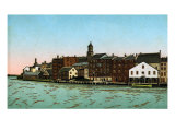 Portsmouth, N.H., Rivermouth Landing. Color Halftone, 1905 Print