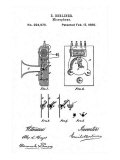 Early Recording Device: the Berliner Microphone Patent, 1880 Posters