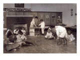 Kindergarten Children in Horace Mann School Working on Doll Houses, Tulsa, Oklahoma, 1917 Prints by Lewis Wickes Hine