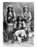 Wild West, Das-Luca, Skro-Kit, Shus-El-Day, White Mountain Apaches Posed with Rifles, 1909 Photo