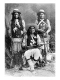 Wild West, Das-Luca, Skro-Kit, Shus-El-Day, White Mountain Apaches Posed with Rifles, 1909 Photo