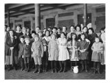 Immigrant Children, Ellis Island, New York, 1908 Photo
