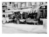 New York City, Italian Wares on Display in Front of Shops in Little Italy, Early 1900s Poster