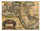 1570 Map of Asia Minor, Then the Ottoman Empire, from Abraham Ortelius' Atlas Photo
