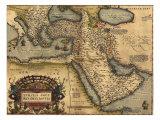 Mapa da Ásia Menor, então Império Otomano, Atlas Abraham Ortelius, 1570 Photo