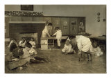 Kindergarten Children in Horace Mann School Working on Doll Houses, Tulsa, Oklahoma, March, 1917 Prints