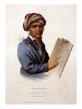 Se-Quo-Yah, Holding Cherokee Alphabet, 1828 Photo