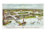 World's Columbian Exposition, Chicago: Grand Birds-Eye View of the Grounds and Buildings, 1892 Posters by  Currier & Ives