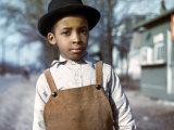 Negro Boy Near Cincinnati, Ohio Kunstdrucke von John Vachon