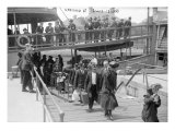 European Immigrants Disembarking at Ellis Island, 1907 Photo