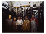 Employees at Mid-Continent Refinery, Tulsa, Oklahoma, 1943 Poster