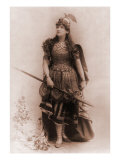 Actress Dressed as Wagnerian Heroine, Brunhilde. 1898 Photo