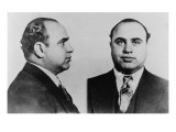 Al Capone, Prohibition Era Gangster Boss in 1931 Mug Shot Photo