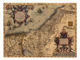 1570 Mapa de Palestina, de Abraham Ortelius' Atlas Fotografía