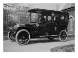 """President Taft's """"Pierce Arrow,"""" a Luxury Auto with 6 Cycle, That Reached Speeds Near 50 Mph, 1909 Photo"""