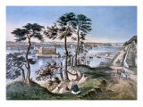 Staten Island and the Narrows Prints by  Currier & Ives