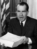 U.S. President Richard Nixon, after Signing a Tax Bill, Washington D.C., 1970 Prints