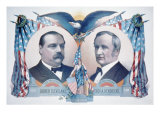 1884 Democratic Campaign Poster with Portraits of Grover Cleveland and Thomas A. Hendricks Photo
