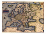 1570 Map of Europe. from Abraham Ortelius' Atlas, Theatrvm Orbis Terrarvm Posters