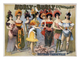 Hurly-Burly Extravaganza and Refined Vaudeville with Chorus Girls in Fanciful Flower Costumes. 1899 Photo