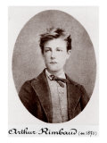 Arthur Rimbaud Reckless and Rebellious French Poet, 1870 Affiche