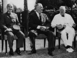 Chiang Kai-Shek, Franklin D. Roosevelt and Winston Churchill, Cairo Conference, Cairo, Egypt, 1943 Photo