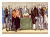 George Washington&#39;s Presidential Inauguration in New York on April 30, 1789 Prints by Currier &amp; Ives 